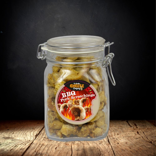 BBQ Pork Scratchings Jar