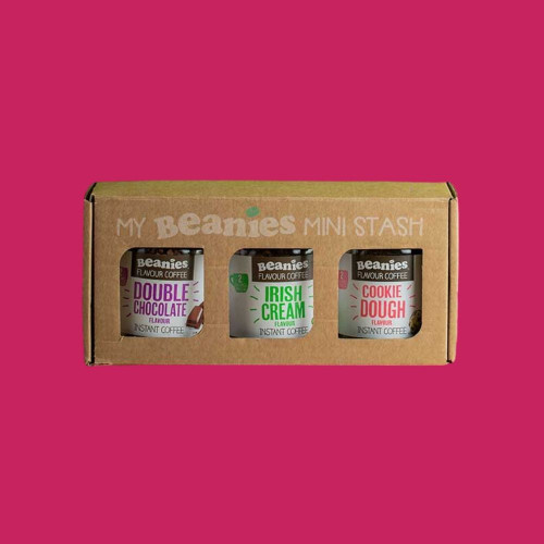 3 Jar Beanies Coffee Stash Box