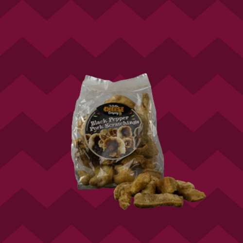 Black Pepper Scratchings Bag