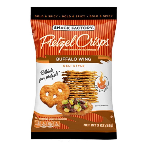 Hot Buffalo Wing Pretzel Crisps
