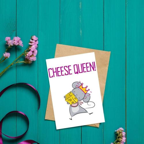 Fun Cheese Queen Greeting Card