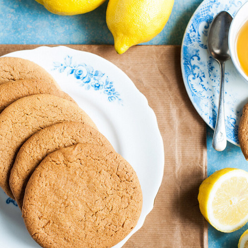Scrumptious Ginger & Lemon Biscuits