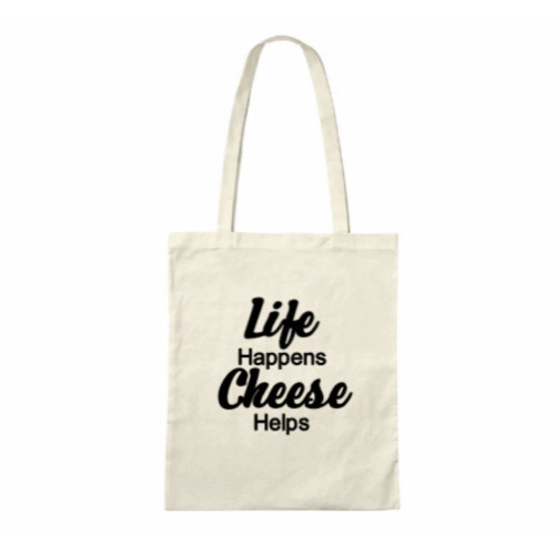 Life Happens Cheese Helps Tote Bag