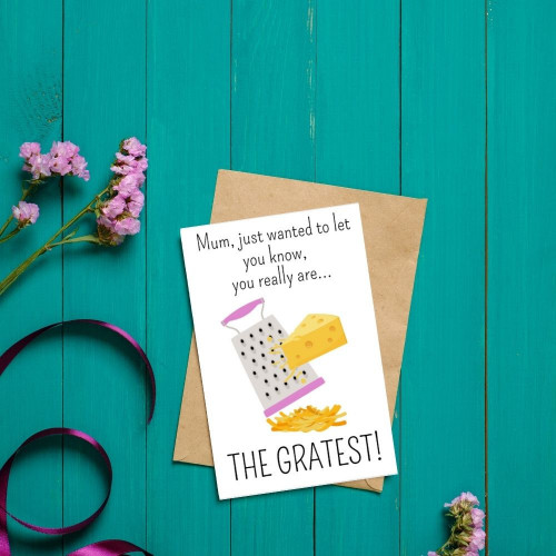 Cheesy Gratest Mum Greeting card