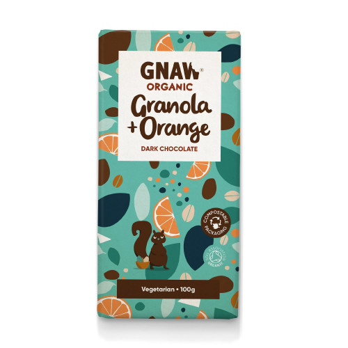 Organic Granola & Orange Dark Chocolate Bar