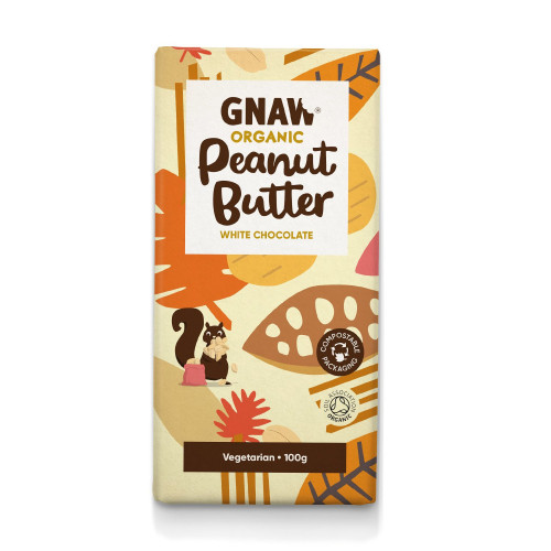 Organic Peanut Butter White Chocolate Bar