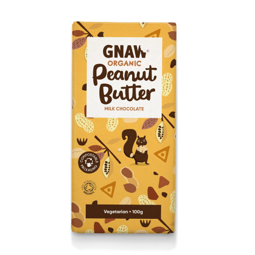 Organic Peanut Butter Milk Chocolate Bar