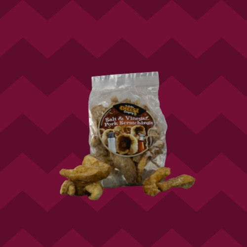 Salt & Vinegar Flavour Pork Scratchings Bag