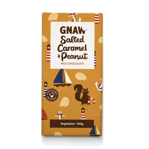 Salted Caramel & Peanut Milk Chocolate Bar