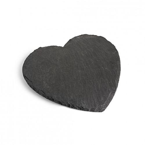 Heart Shaped Slate Cheese Board on a white background