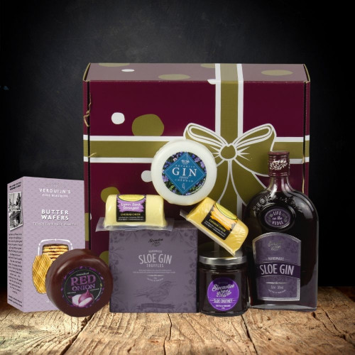 Sloe Gin & Cheese Hamper