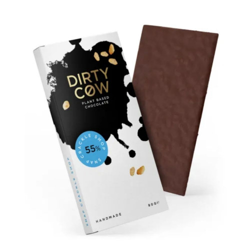 Plant Based Dirty Cow Snack Crackle Shop Chocolate Bar