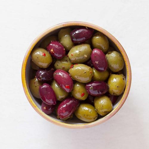 Tricolore Olive Pot