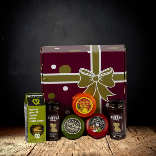 Waxed Truckle 3 Cheese Gift Hamper