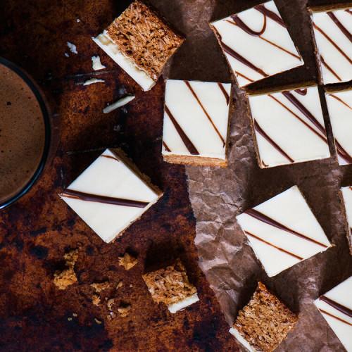 Scrumptious White Chocolate coated Flapjack